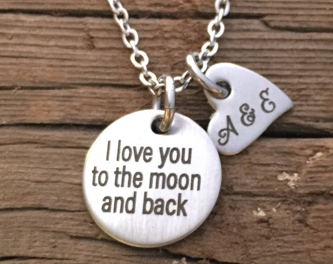 I Love You to the Moon and Back Necklace Gifts Valentine's Day Gift For Wife Gift Jewelry Wife Birthday Christmas Gift Mother's Day Gift