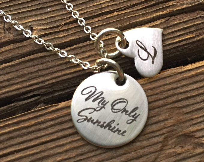 My Only Sunshine Necklace Gifts for Girlfriend Gifts Valentine's Day Gift For Wife Gift Jewelry Wife Birthday Christmas Gift