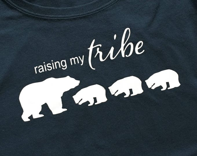 Raising My Tribe Shirt Mom Shirt for Mom My Tribe Shirt Mama Multiple Cubs Shirt For Mom  Christmas Gift for Mom Birthday Mother's Day Gift