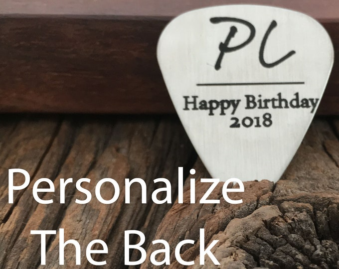 Personalized Happy Birthday Guitar Pick Gift for Boyfriend Rock Star Gift Mens Guitar Pick Gift Birthday Gift For Husband Or Boyfriend