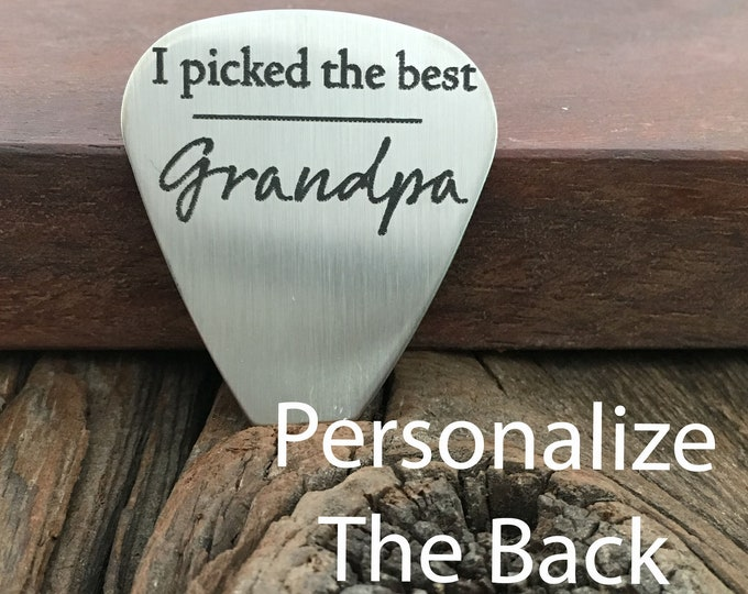 I Picked The Best Grandpa Guitar Pick Gift For Grandpa Guitar Pick Grandpa Gift Father's Day Birthday Christmas Gift For Grandpa Gift Idea