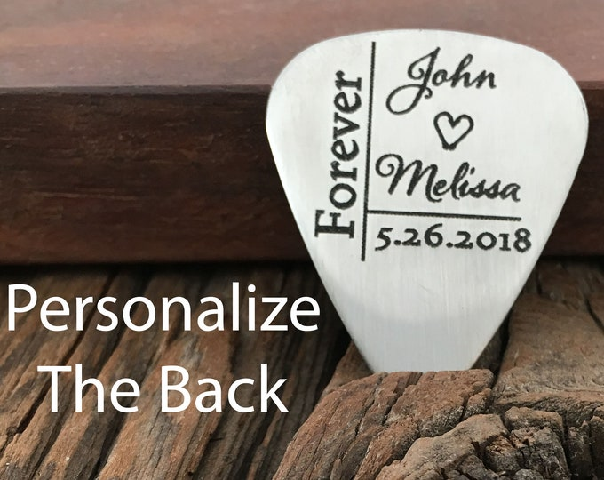 Forever Guitar Pick Personalized Name And Date Wedding Gift Anniversary Guitar Pick Engagement Gift For Music Lovers Guitar Pick Gift Idea