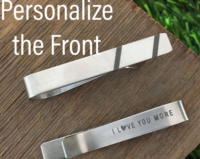I Love You More Tie Clip Husband Tie Bar For Boyfriend Valentines Day Gift Personalized Tie Clip Husband Gift Anniversary Tie Bar Mens Gift