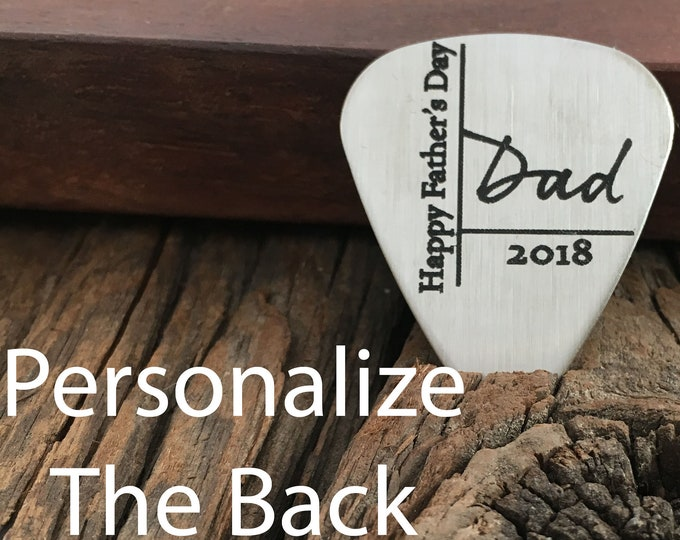 Personalized Happy Father's Day Guitar Pick Gift For Dad My Rock Star Gift Mens Guitar Pick Gift Birthday Gift For Husband Or Father
