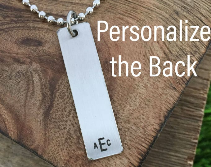 Monogram Mens Necklace Mens Monogram Jewelry Necklace Engraved Necklace For Him Boyfriend Gift Mens Jewelry Personalized Necklace For Him