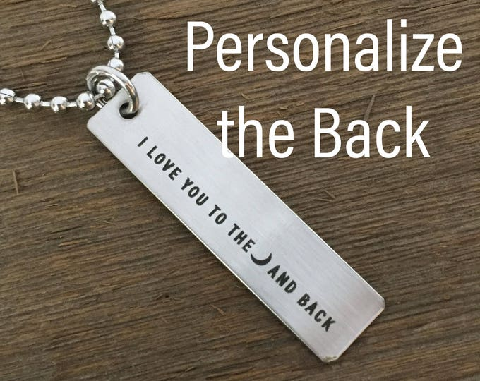 I Love You To The Moon And Back Mens Necklace Men's Jewelry Men's Gift Simple Necklace For Him Boyfriend Gift Husband Gift For Valentines