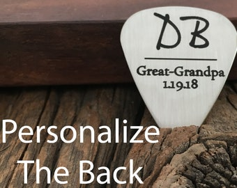 Personalized Great Grandpa Guitar Pick Gift Personalized Initials Gift For Music Lover Personalized Date Gift Guitar Pick For Great Grandpa