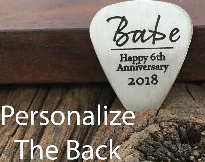 Personalized Babe Guitar Pick Gift Personalized Wedding Gift Anniversary Guitar Pick Gift for Engagement Pick Gift For Music Lover