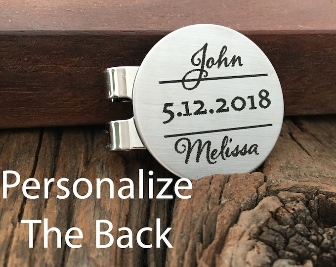 Personalized Name And Date Golf Ball Marker Gift Personalized Wedding Gift For Anniversary Golf Ball Marker Engagement Gift For Avid Golfer