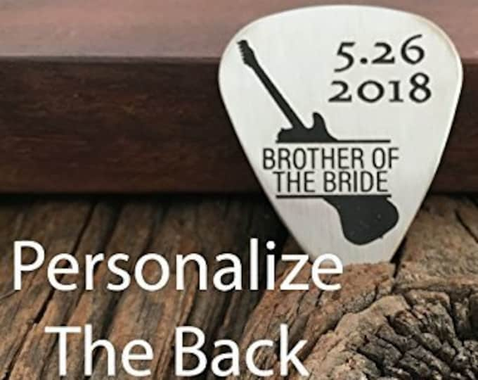 Brother Of The Bride Gift Guitar Pick Brother Gift Guitar Pick Engraved For Brother Wedding Party Brother Gift For Best Brother Ever Gift