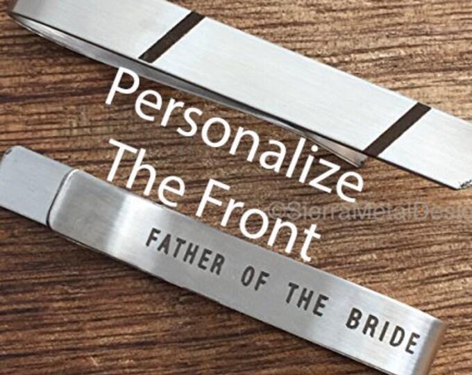 Father of the Bride Tie Clip Tie Bar Father of the Bride Engraved Tie Clip Father Gift Father of Bride Gift Brides Dad Parent Wedding
