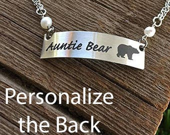 Auntie Bear Bracelet Bear Jewelry For Auntie Gift Bear Gift for Mother's Day  Bracelet Birthday Christmas Mama Bear Cubs