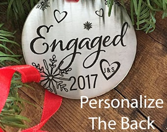 Personalized Engaged Ornament 2017 Christmas Ornament Engaged Ornament 2017 Christmas Ornament For Engagement Ornament Married Newly Engaged