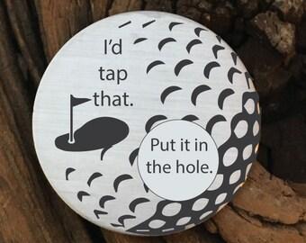Golf Gifts For Men Id Tap That Ball Marker Gift Husband Birthday Boyfriend Idea Christmas
