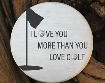 Valentines Day Gift For Him I Love You More Than Golf Ball Marker Husband Birthday Boyfriend