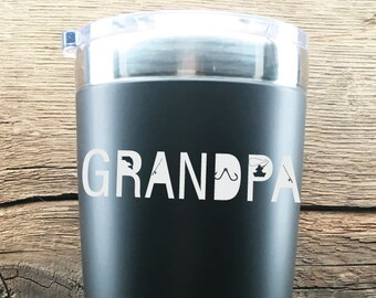 Fisherman Grandpa Tumbler Fathers Day Gift For The Fisherman From Kids Gift Idea For Grandpa Tumbler Gift Idea For The Fisherman Grandpa