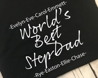 f7643a8b0c9 World s Best Stepdad Men s Shirt Gift For Fathers Day Men s Shirt Gift For World s  Best Stepdad Gift Best Stepdad Ever Men s Shirt For Him