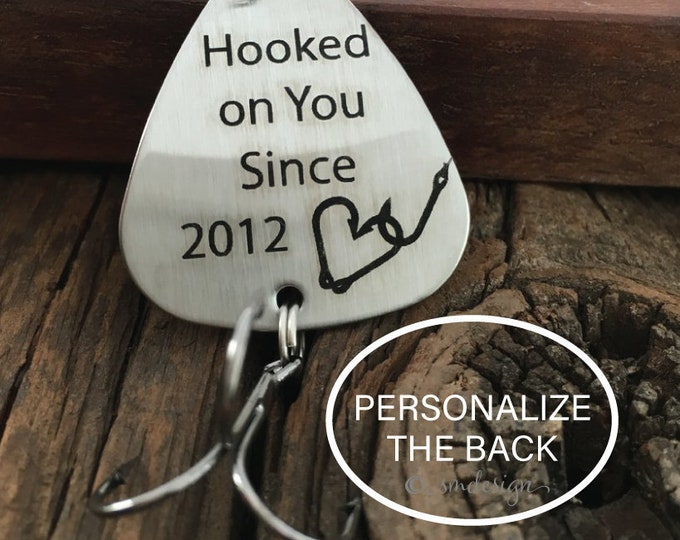 Personalized Hooked On You Since Fishing Lure