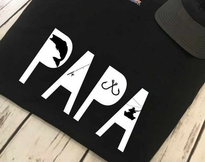 Fisherman Papa Men's Shirt Fathers Day Gift For The Fisherman From Kids Gift Idea For Papa Men's Shirt Gift Idea For The Fisherman Papa