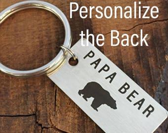 Papa Bear Keychain Papa Keychain Gift for Papa Bear Gift Idea Keychain For Papa Birthday Gift Papa Christmas Gift Papa Father's Day Gift