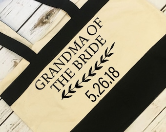 Grandma Of The Bride Tote Bridal Party Gift For Grandma Wedding Party Tote Gift Idea Wedding Gift Love Gift Best Day Ever Gift For Grandma