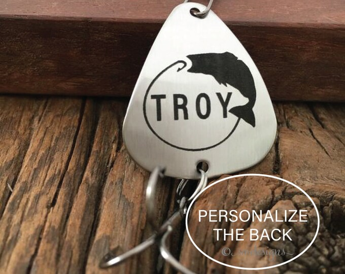 Personalized Fishing Lure Personalized Gift for Him Gift for Boyfriend Gift for Son Gift for Brother Gift for Valentines Day Fishing Gift
