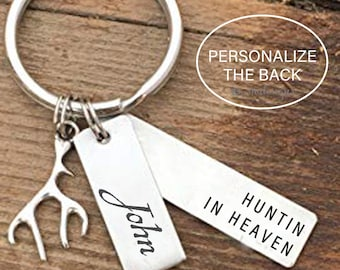 Huntin in Heaven Remembrance Keychain