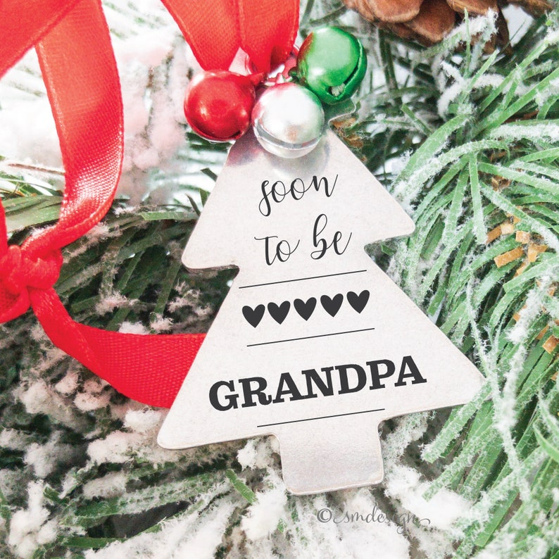 Soon To Be Grandpa Pregnancy Announcement Christmas Tree image 0