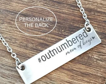 Outnumbered Mom Of Boys Necklace