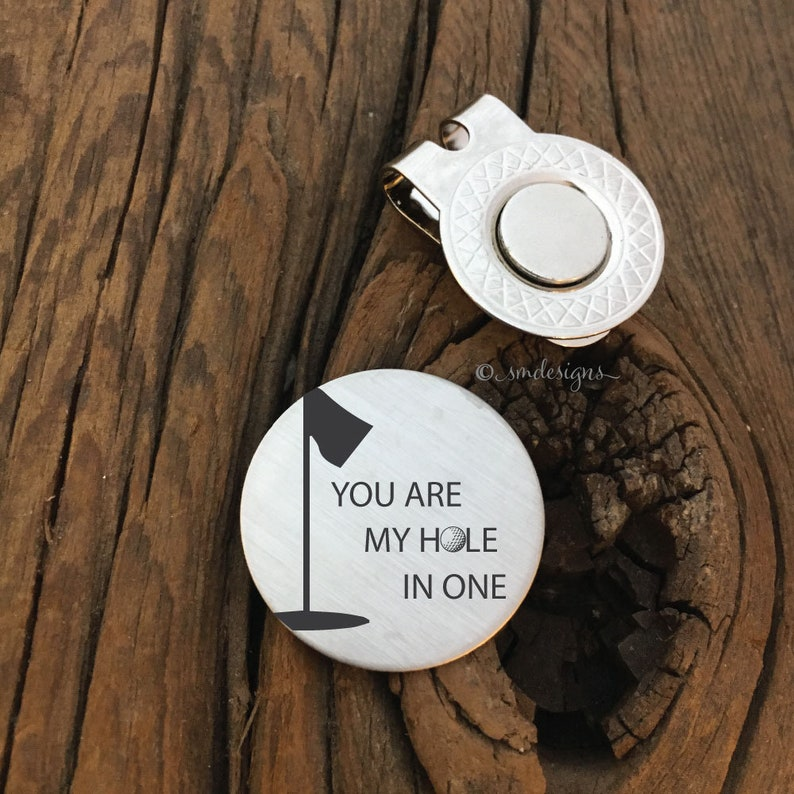 You Are My Hole In One Valentines Day Golf Ball Marker Golf  9e887d206ba9
