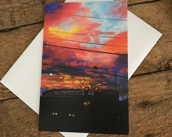 Dawn in the City - 4x6 Greeting Card