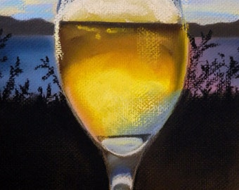 CLEARANCE Chardonnay - Original Drawing by Jamies Art
