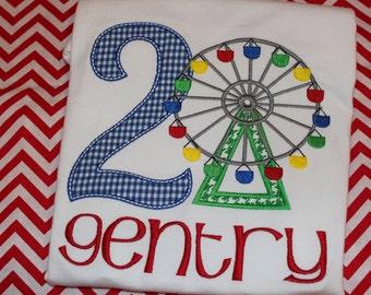 cotton candy carnival sublimation transfer kids cotton tshirt transfer fair Ferris wheel personalized transfer
