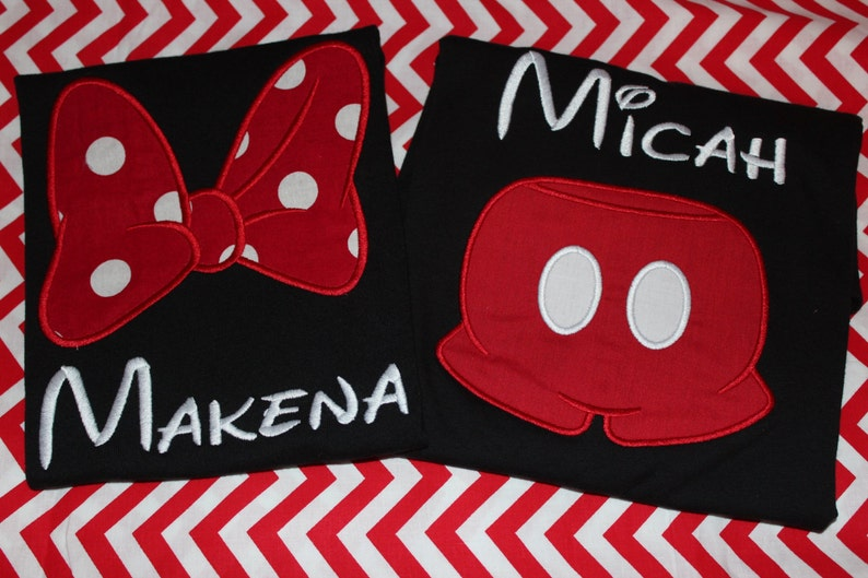 Disney trip Mom and Dad Disney birthday Big Sister and Little Sister Minnie bow or Mickey pants adult or kids tshirt any name