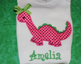 Dinosaur personalized for boy or girl- you pick fabric