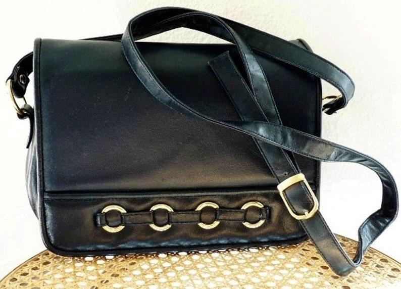 48ce200759dd3 Vintage Handtasche dunkelblau Leder Aktentasche Cabrio