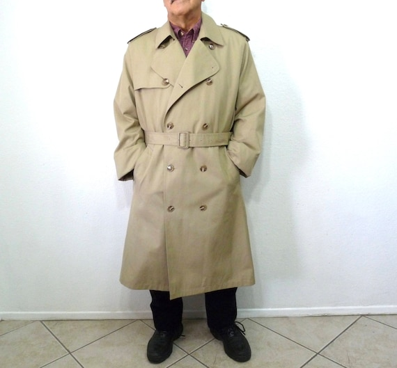 Futter Groß Herren Harbor Plüsch Misty Warm 44 Coat Männer Lange Vintage Trench Regenmantel Abnehmbaren 8nN0wm