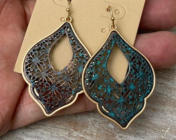 5471 - Bohemian Earrings, Bohemian Jewelry, Gift for Her
