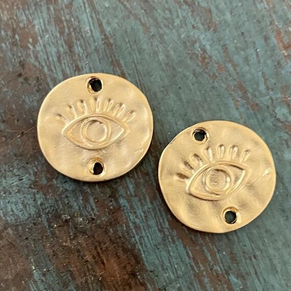 1142- Matte Gold Plated Earring Parts - Bohemian Brass Earring Findings. 2PCS.