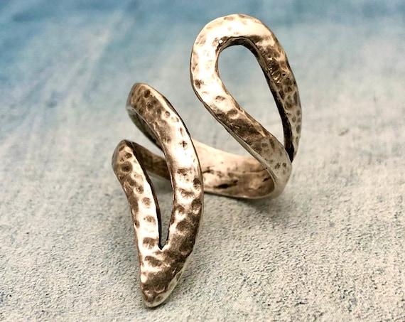 4352 - Boho Ring, Bohemian Ring , Ethnic, Tribal, Hippie Style