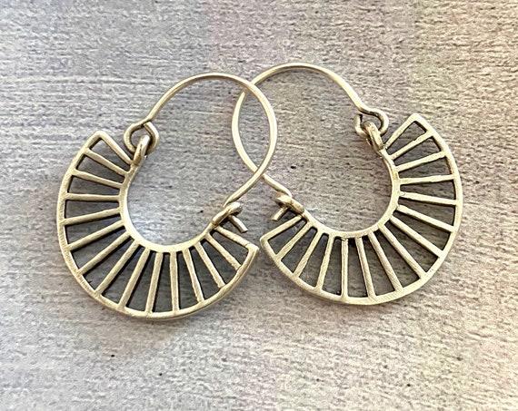 5398 - Tribal Boho Ethnic Bohemian Earrings, Gypsy Silver Hypoallergenic