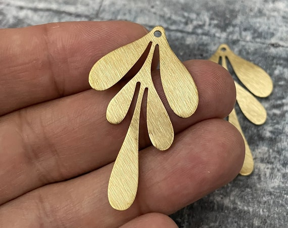 Brass Charms, Raw Brass Earring Findings. Earring Finds. Wholesale earring findings for jewelry making parts. 3070