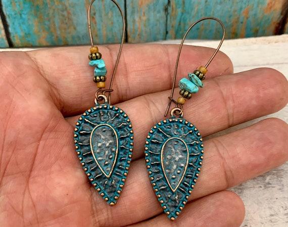 5369 - Bohemian jewelry boho earrings ethnic earrings dangle earrings statement earrings gypsy earrings tribal jewelry tribal earrings