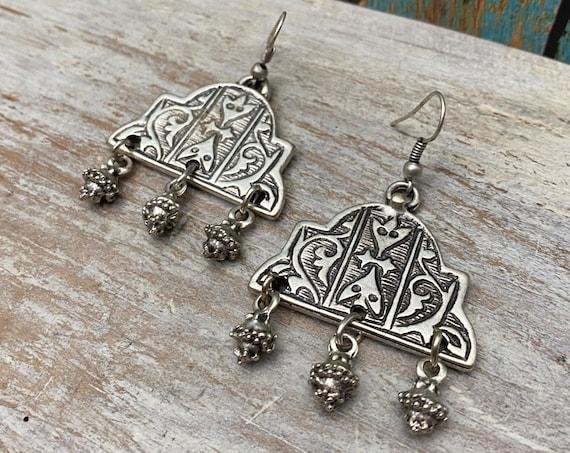 5444 - Dangle Earrings, ethnic earrings, vintage earrings