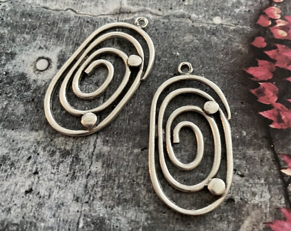 Wholesale earring findings for jewelry making parts.Antique Silver plated earring  parts. Best gift for her.8066