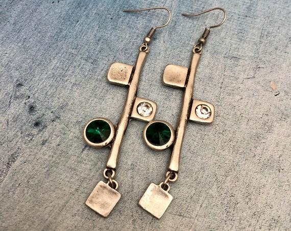 5536 - Bohemian jewelry boho earrings ethnic earrings dangle earrings statement earrings gypsy earrings tribal jewelry tribal earrings