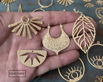 Brass Earrring  Findings- 60 PCS - One set, endless possibilities. Wholesale earring findings for jewelry making parts. 18k Gold Coated