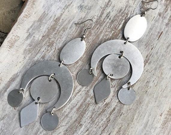 5411 - Geometric Earrings, Minimalist Earrings Bohemian Earrings