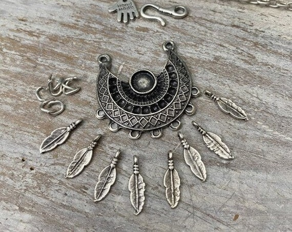 8055 - Trace Necklace Pendant Element - Necklace for women - Necklace making kit - Gift for