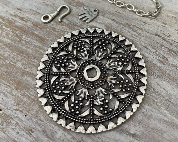 7007 - Rose Window Pendant - Necklace for women - Pendant Only - Chain and Jump rings not included - Gift for